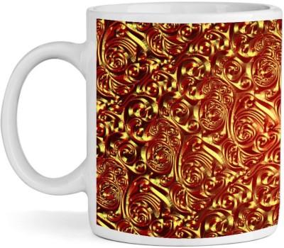 BSEnterprise Golden Brass Metallic Ceramic Mug