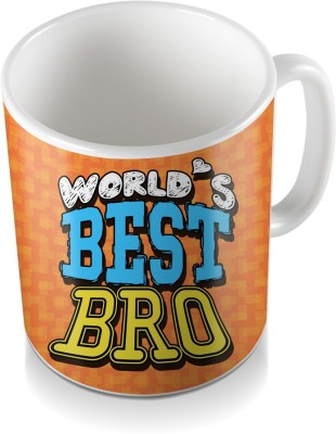 SKY TRENDS GIFT World,s Best Bro For Orange Color And Shde Design Gifts Happy Rakshabandhan Coffee Ceramic Mug