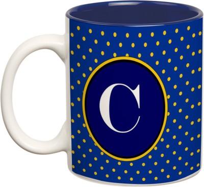 Mugwala C Monogram  Ceramic Mug