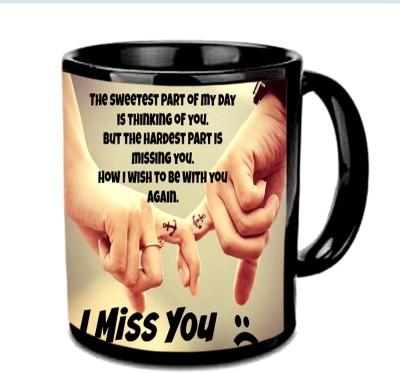Jiya Creation1 I Miss You Multicolor Ceramic Mug