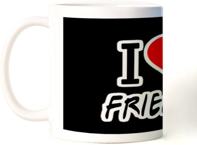 Rockmantra I Love Friends Happy Friendship Day Ceramic Mug