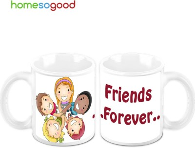 HomeSoGood Friend Forever (Pack Of 2) Ceramic Mug