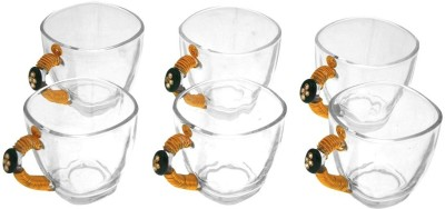 JewelKraft Designs Jaipur Green Glass Mug