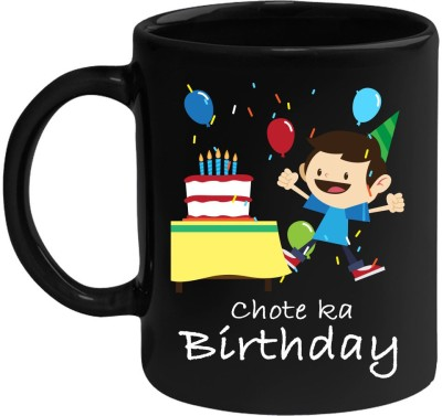 Huppme Chote Ka Birthday Black  Ceramic Mug