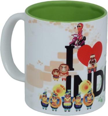 Imagica Coffee��I Love India Ceramic Mug