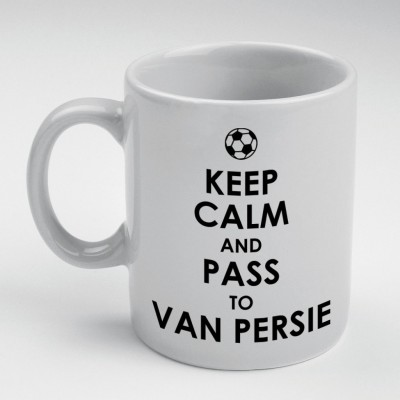 Prokyde Prokyde Keep Calm & Pass to Van Persie  Ceramic Mug