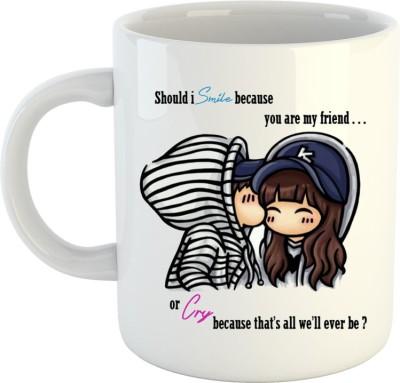 HuppmeGift Smile Cry White  Ceramic Mug