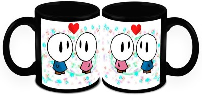 HomeSoGood Angels Of Love ( Set Of 2) Ceramic Mug
