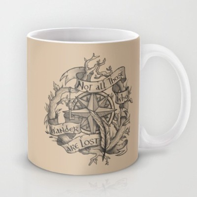 Astrode Not All Those Who Wander Are Lost Ceramic Mug