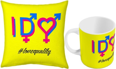 Home India Easy to Carry Coffee  n Filled Cushion Pair 390 Ceramic Mug