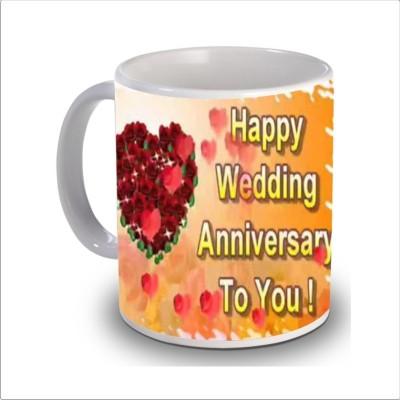 Print Hello happy anniversary 72 Ceramic Mug