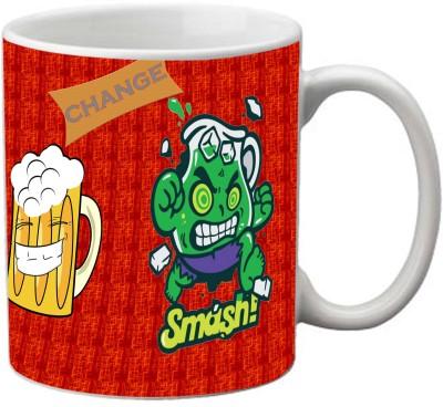 Romanshopping Change Smash beer  Bone China Mug