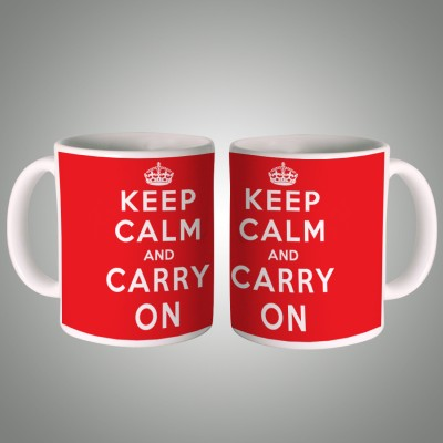 Posterboy Keep Calm and Carry On Ceramic Mug