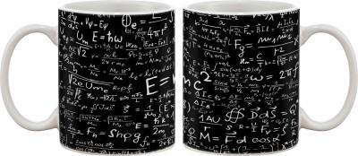 Artifa E=Mc Square Porcelain, Ceramic Mug