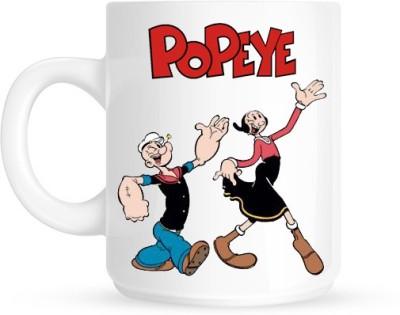 Hainaworld Popeye Dance Coffee  Ceramic Mug