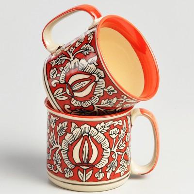 cultural concepts Red hal Noodles  - Set of 2 Ceramic Mug