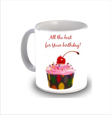 Print Hello Happy Birthday Cake b273 Ceramic Mug