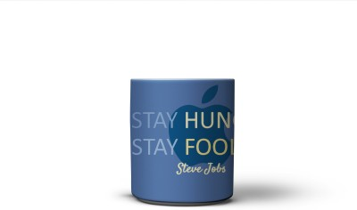 The Nodding Head 300ml Stay Hungry Stay Foolish - Steve  Ceramic Mug