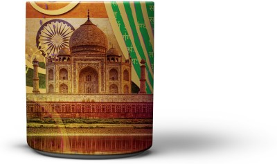 The Nodding Head Taj Collage Coffee Ceramic Mug