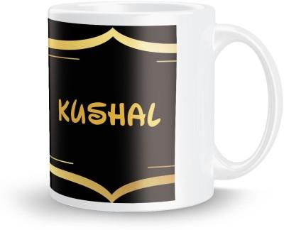 posterchacha Kushal Name Tea And Coffee  For Gift And Self Use Ceramic Mug