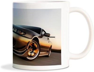 Rockmantra Black Royal Rich Car Ceramic Mug