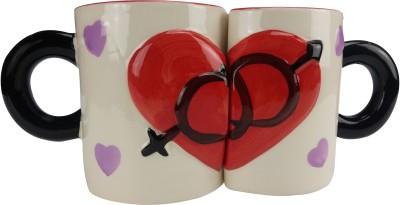 ANNI CREATIONS Cross Heart Ceramic Mug