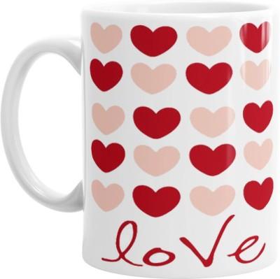 Hainaworld Its Love Hearts Coffee  Ceramic Mug