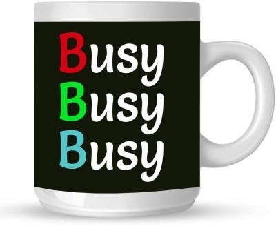 Huppme Busy White  Ceramic Mug