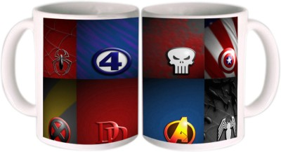 Shopkeeda Super Heros League Ceramic Mug