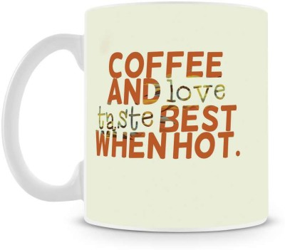 Saledart Mg837-Coffee And Love Best When Cool Ceramic Mug