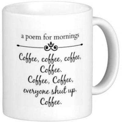 G&G Morning Poem For Coffee Ceramic Mug