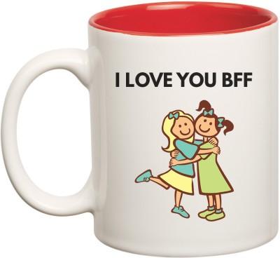 HuppmeGift Best Friend Forever Inner Red  Ceramic Mug