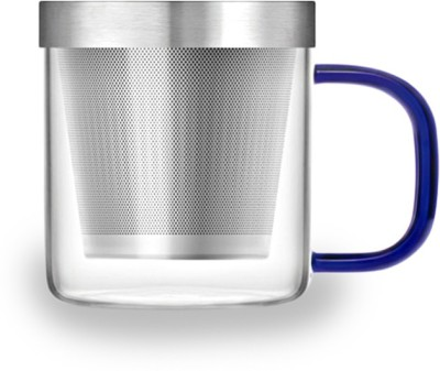 Samadoyo  With Strainer(350ml) Glass, Stainless Steel Mug