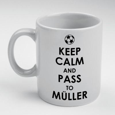 Prokyde Prokyde Keep Calm & Pass to Muller  Ceramic Mug