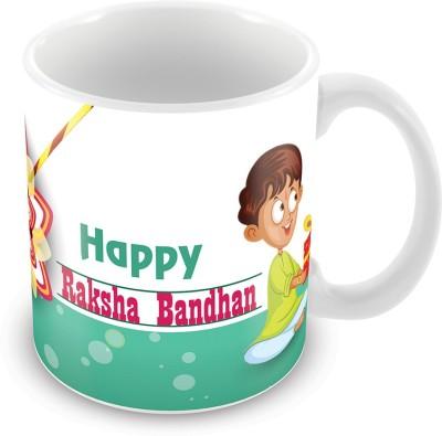 Prinzox Happy Raksha Bandhan brother sister theme Ceramic Mug