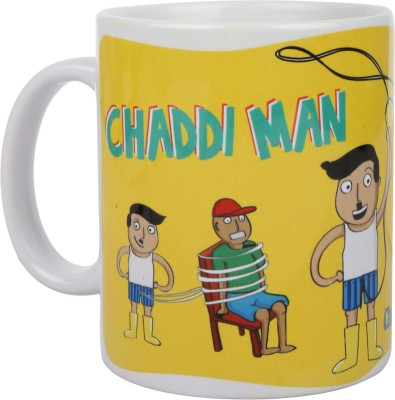 Art Potli Superhero Chaddi Man Ceramic Mug