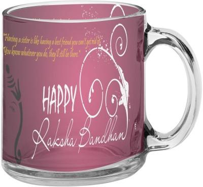 meSleep Raksha Bandhan Purple MUTR-30-14 Glass Mug