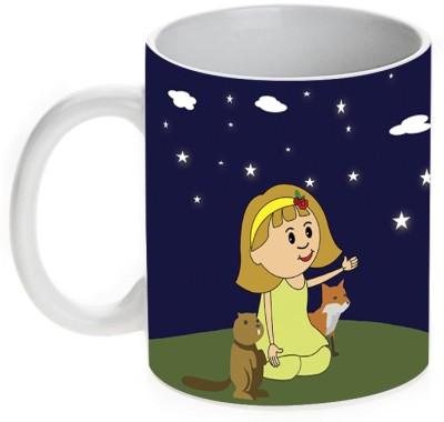 Mugwala Twinkle Twinkle Little Star Kids Ceramic Mug