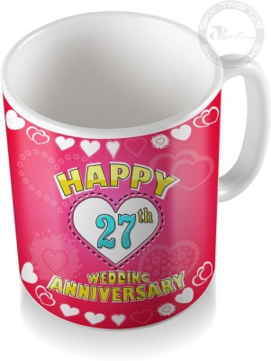 SKY TRENDS GIFT 27th Happy Wedding Anniversary Coffee  Ceramic Mug
