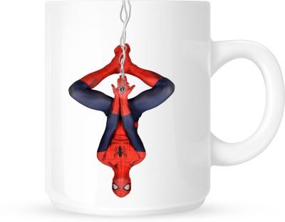Huppme Hanging Spider Man  Ceramic Mug