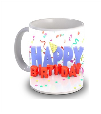 Print Hello Happy Birthday Cake b160 Ceramic Mug