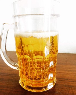Flintstop Beer  Big Glass Mug