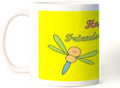 Rockmantra Two Cute Dragonfly Happy Friendship Day Ceramic Mug