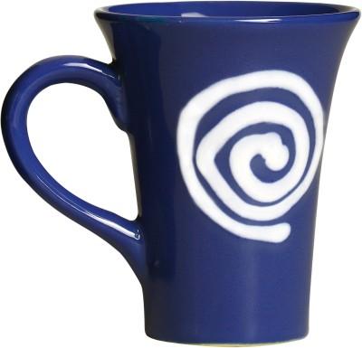 caffeine Coffee  inblue & White Doodle Platform (Set of 1) Ceramic Mug