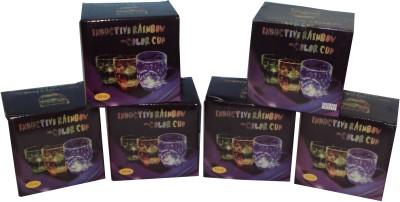 Parteet Inductive Rainbow Colour Cup - Pack of 6 Plastic Mug(300 ml, Pack of 6) at flipkart