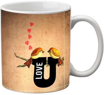 Romanshopping Love Bird  Bone China Mug