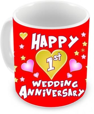Tiedribbons Gift for 1st Wedding Anniversary Ceramic Mug(350 ml)