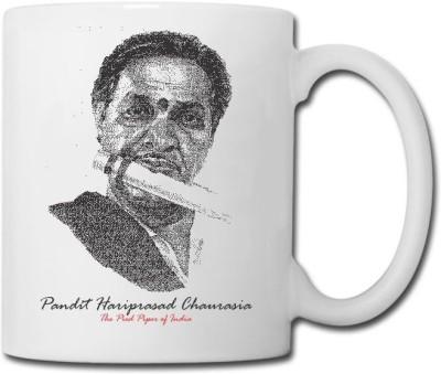 Raga Creations Pandit Hariprasad Chaurasia Theme  Ceramic Mug