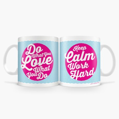LetterNote Do What You Love Combo Ceramic Mug