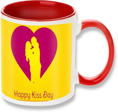Heyworlds Happy Hug Day Red Ceramic Mug